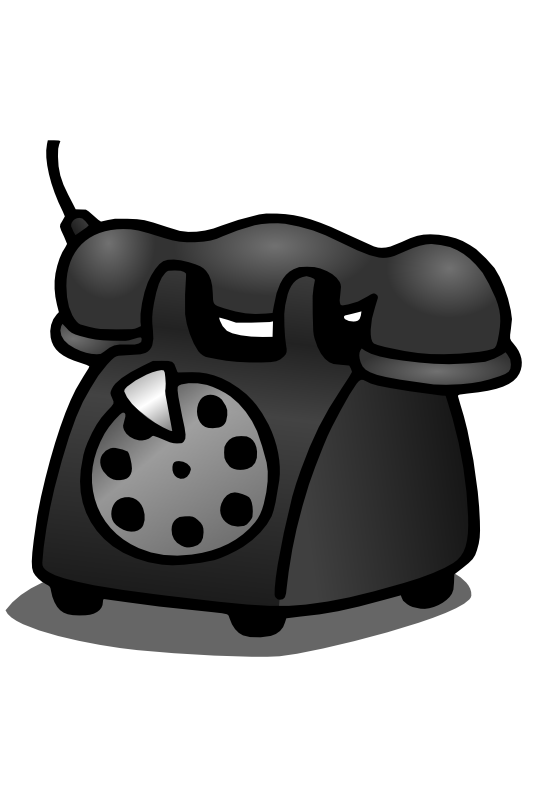 Telephone book clipart image black and white clipartist.net » Clip Art » gustavorezende old telephone SVG image black and white