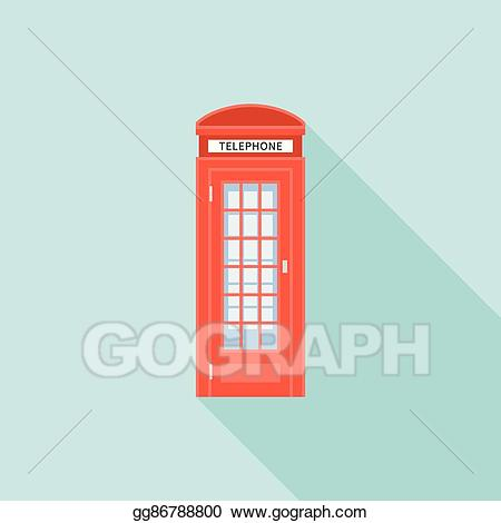 Telephone box clipart freeuse library Vector Illustration - Red telephone box of london. EPS ... freeuse library