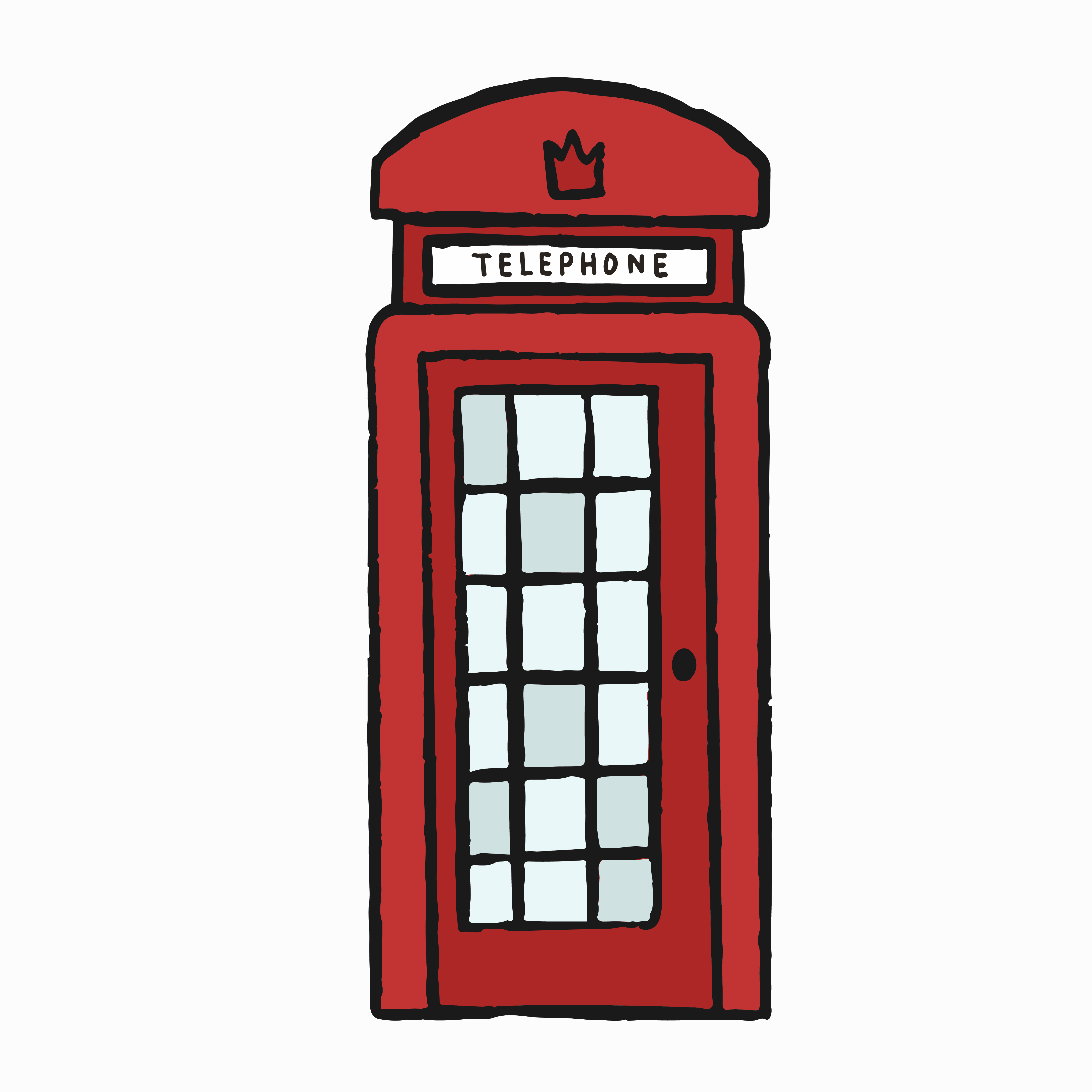 Telephone box clipart vector royalty free library British Telephone Box Free Vector Art - (25 Free Downloads) vector royalty free library
