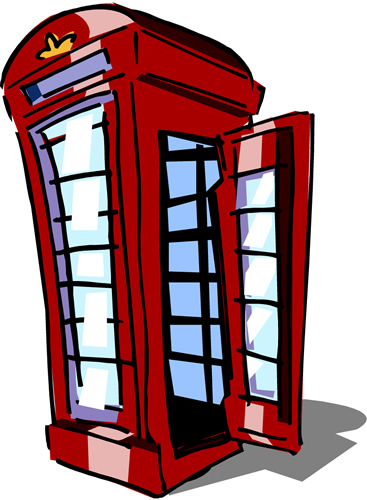 Telephone box clipart picture black and white Free Telephone Booth Cliparts, Download Free Clip Art, Free ... picture black and white