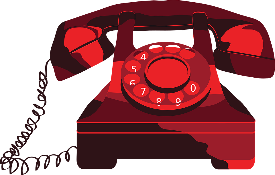 Telephone clipart clipart library library Red Telephone Clipart transparent PNG - StickPNG clipart library library