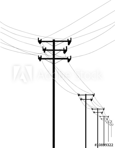 Telephone pole and wires clipart graphic royalty free library telephone poles and wires - Buy this stock vector and ... graphic royalty free library