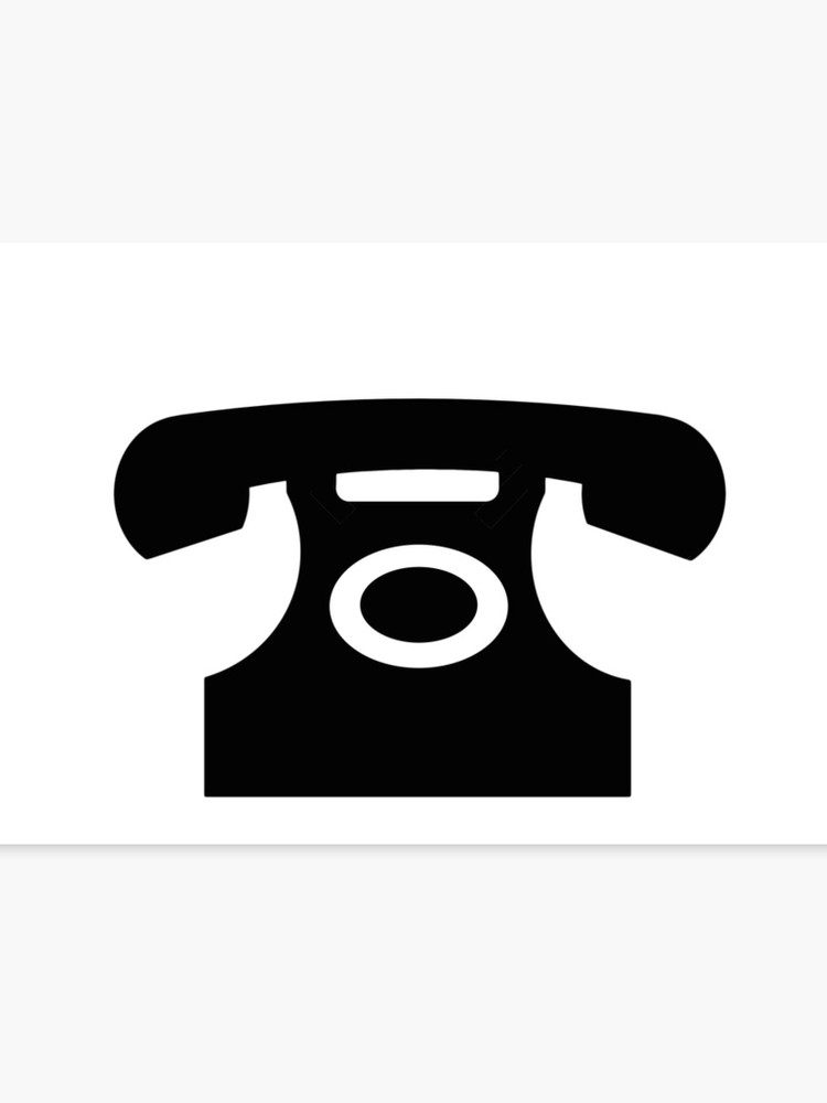 Telephone sign clipart picture free download Telephone sign as clipart | Canvas Print picture free download