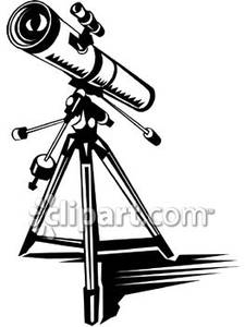 Telescope black and white clipart clip art transparent library Realistic Black and White Telescope - Royalty Free Clipart ... clip art transparent library