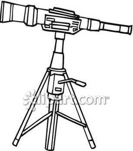 Telescope black and white clipart png transparent stock Black and White Telescope With A Stand - Royalty Free ... png transparent stock