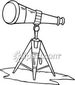 Telescope black and white clipart png black and white library Black and White Telescope | Clipart Panda - Free Clipart Images png black and white library
