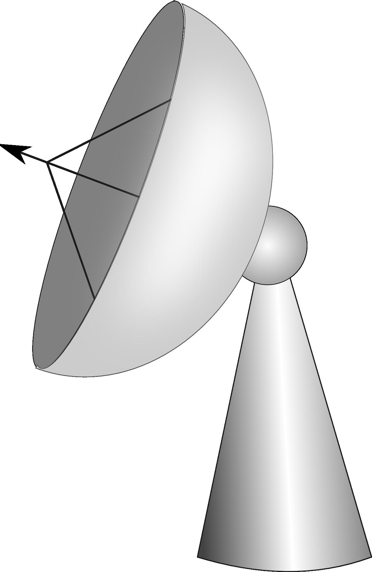 Telescope dishes clipart jpg transparent stock Radio telescope radar dish free image jpg transparent stock