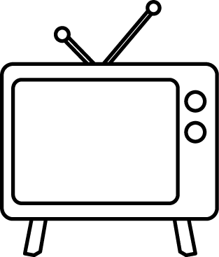 Television black and white clipart png freeuse Black and White Television | Clip Art-Misc. | Clip art ... png freeuse