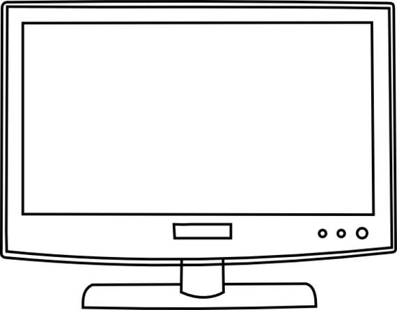 Television black and white clipart banner freeuse stock Free Tv Clipart Black And White, Download Free Clip Art ... banner freeuse stock