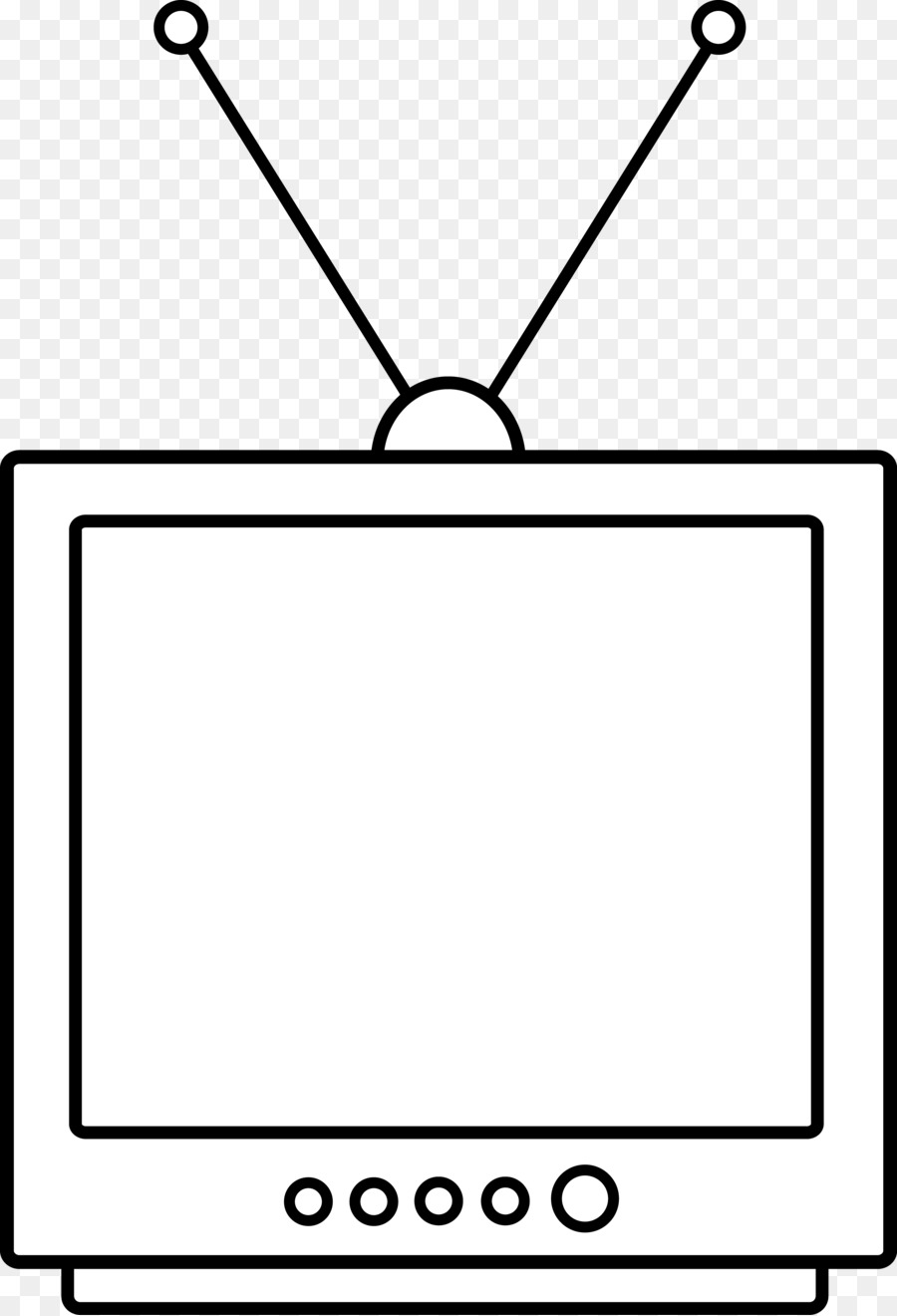 Television black and white clipart image freeuse library Black Line Background clipart - Television, Graphics, White ... image freeuse library