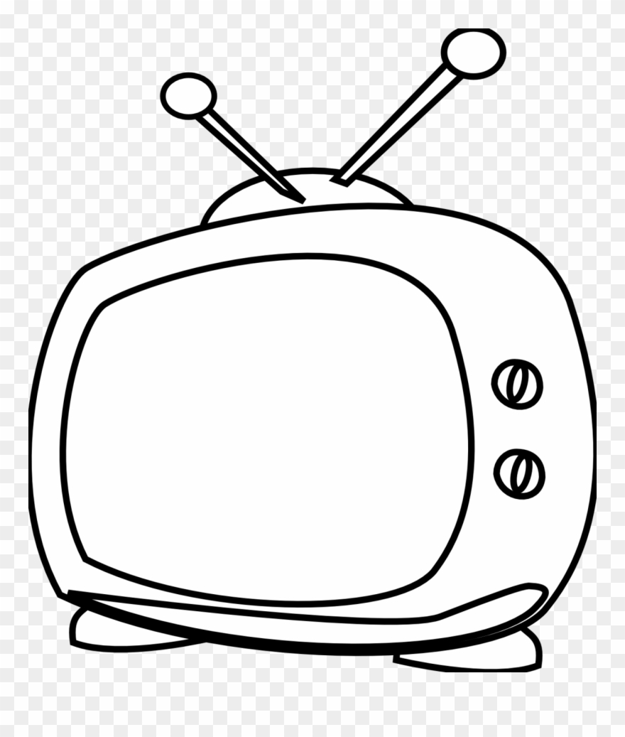 Television black and white clipart clip art transparent library Watching Tv Clipart Black And White Free Clipart - Tv ... clip art transparent library