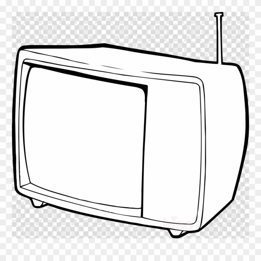 Television black and white clipart vector Tv Outline Clipart Black And White Television Clip - Top Hat ... vector