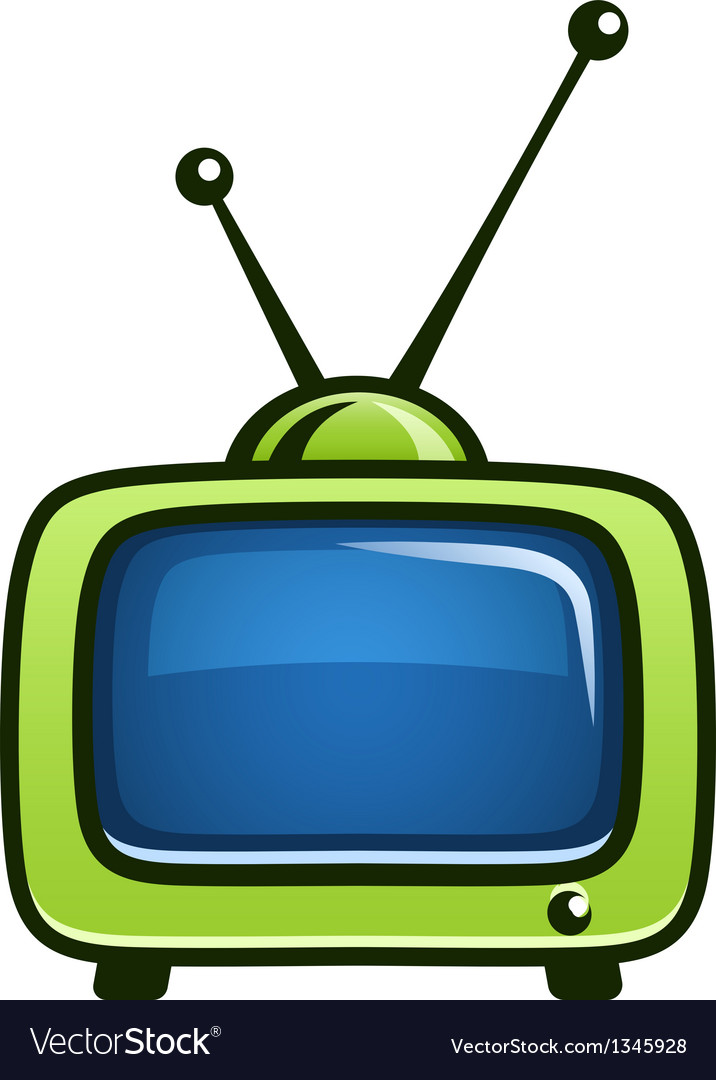 Television clipart vector picture black and white Vintage tv set clipart picture black and white