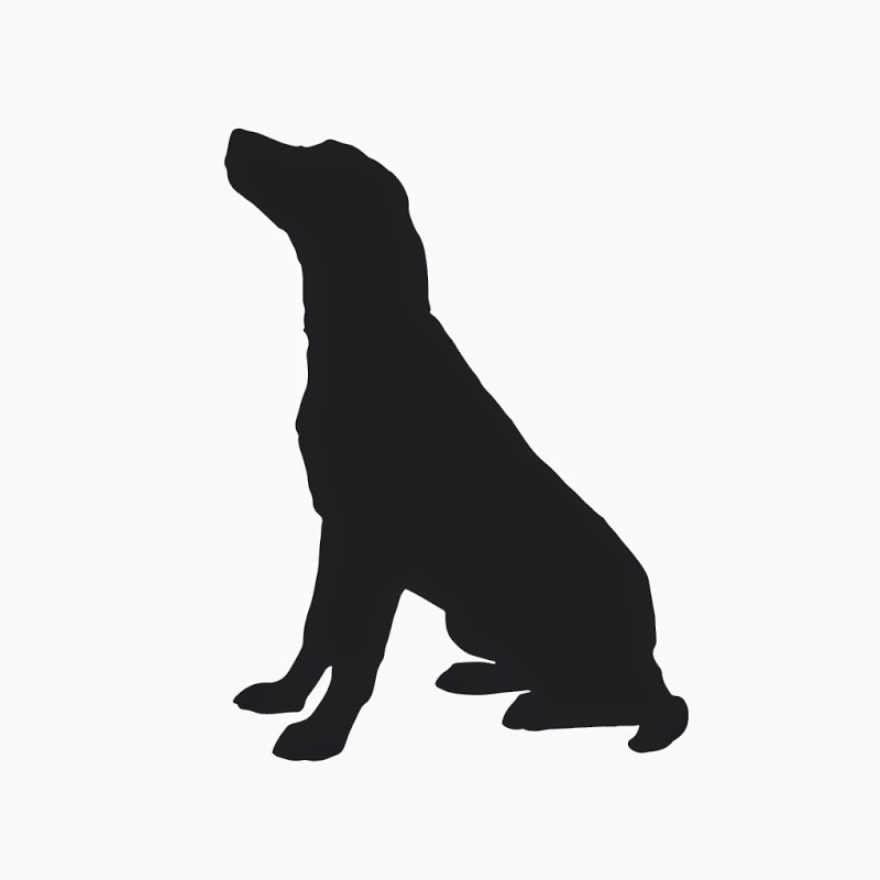 Tell dog sit clipart black and white