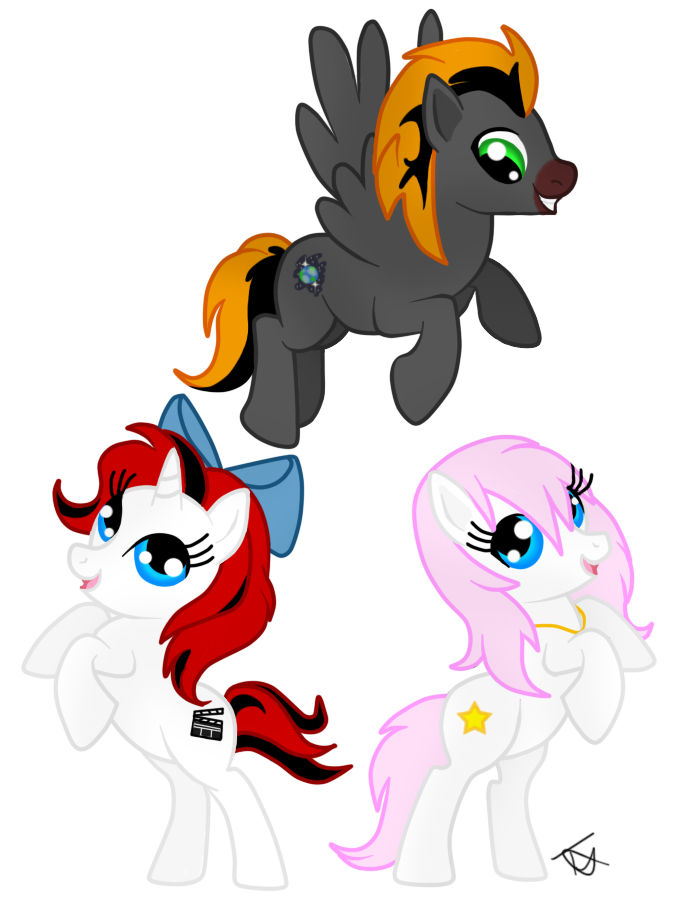 Tell tale heart clipart vector free download Pony Trio by thetelltaleheart on DeviantArt vector free download