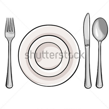 Teller mit essen clipart image black and white download Clipart teller besteck - ClipartFox image black and white download