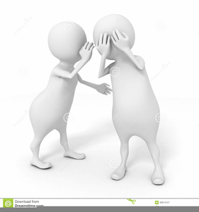 Telling a secret black and white clipart graphic free stock Telling A Secret Clipart | Free Images at Clker.com - vector ... graphic free stock