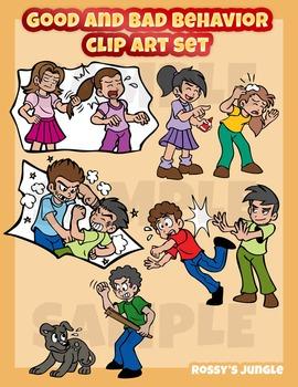 Temper tantrum in school clipart image free stock Good and bad behavior clip art set   Awards Clip Art   Clip ... image free stock