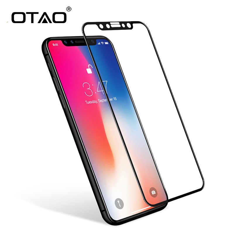 Tempered glass clipart jpg transparent download OTAO For Apple iPhone X 8 7 6 Plus Full Coverage Tempered ... jpg transparent download