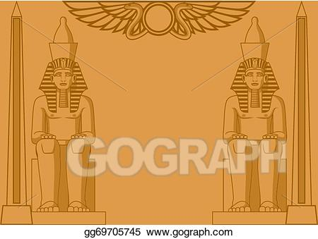 Temple clipart egyption clip art freeuse Vector Stock - Egyptian background. Clipart Illustration ... clip art freeuse