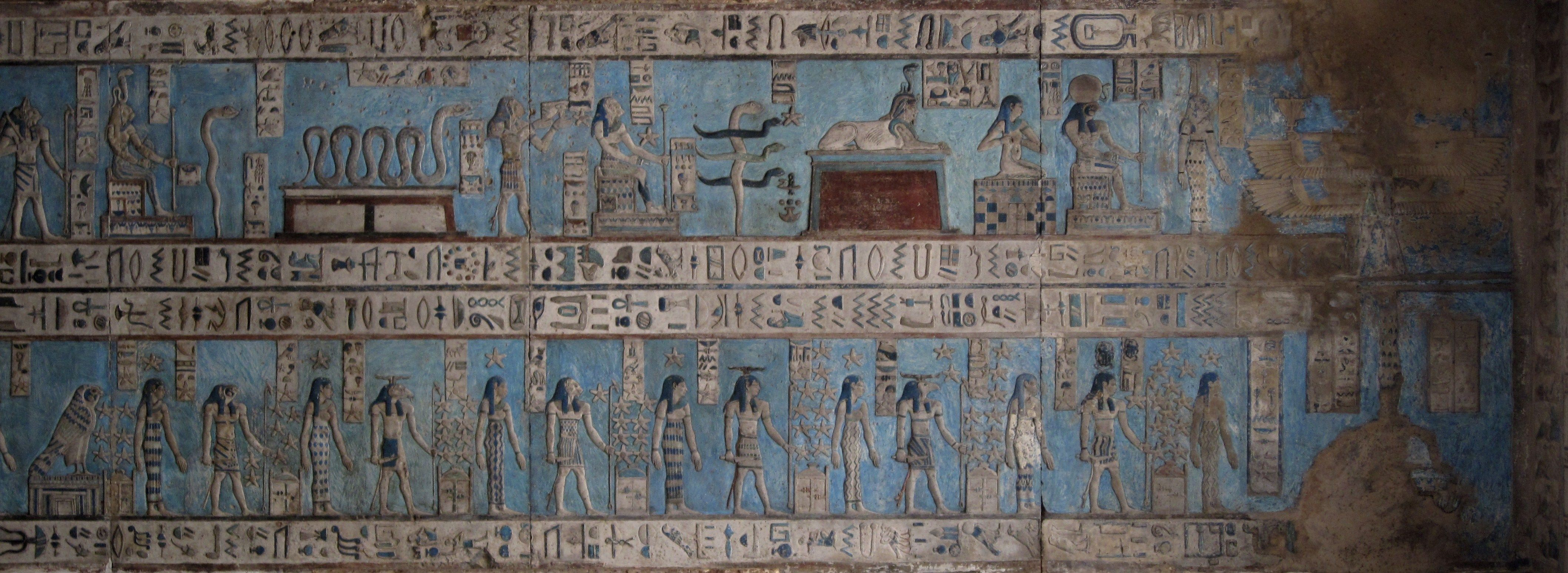 Temple frieze only clipart svg freeuse stock painted frieze, temple of dendera   HOME - EGYPTIAN   Egypt ... svg freeuse stock