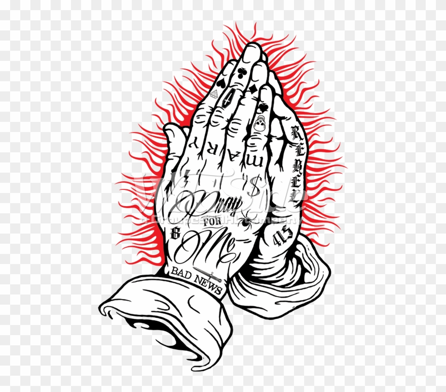 Temporary tattoo on hand clipart png freeuse stock Praying Hands - Spestyle Waterproof Non-toxic Temporary ... png freeuse stock