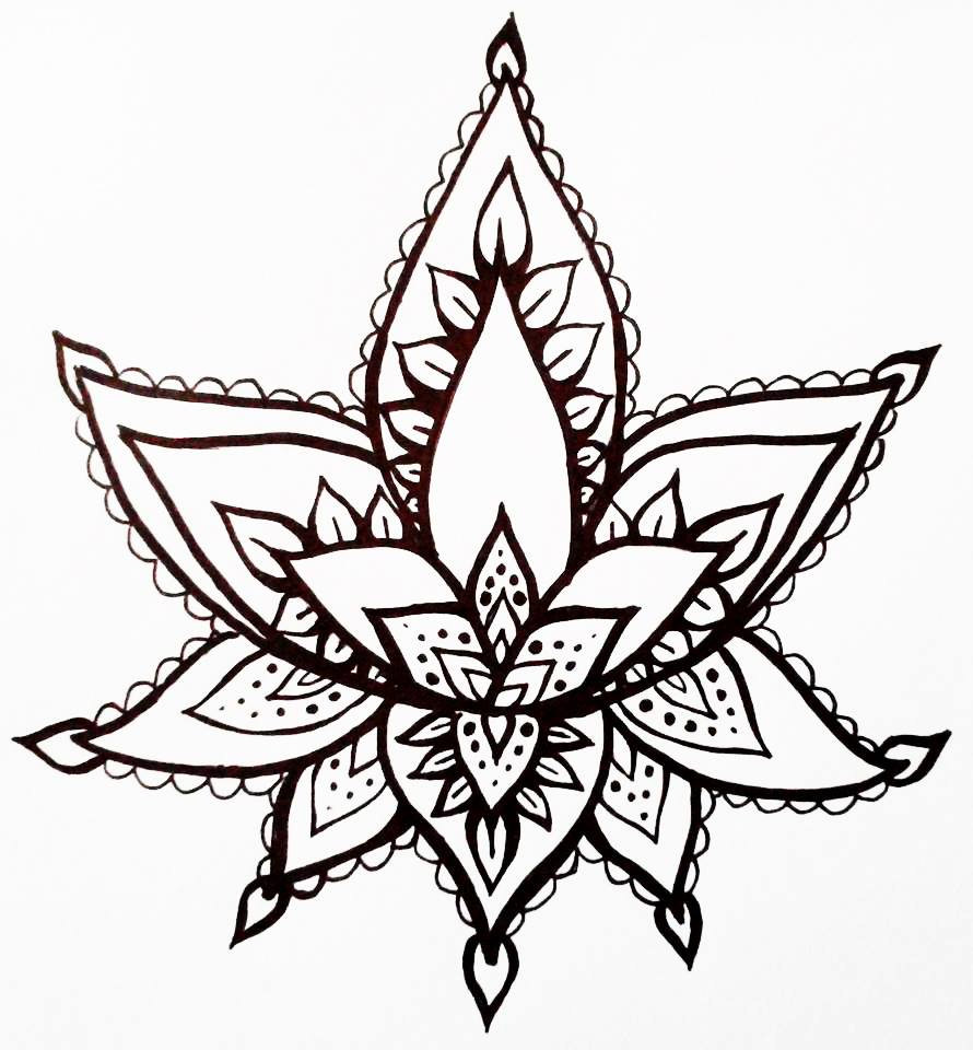 Temporary tattoo on hand clipart graphic royalty free stock Lotus Flower Temporary Tattoo Hand Drawn Henna Style By ... graphic royalty free stock