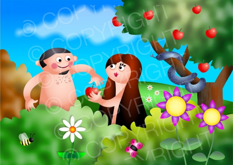 Tempt clipart clipart freeuse Adam & Eve and the Temptation Bible Illustration – Prawny ... clipart freeuse