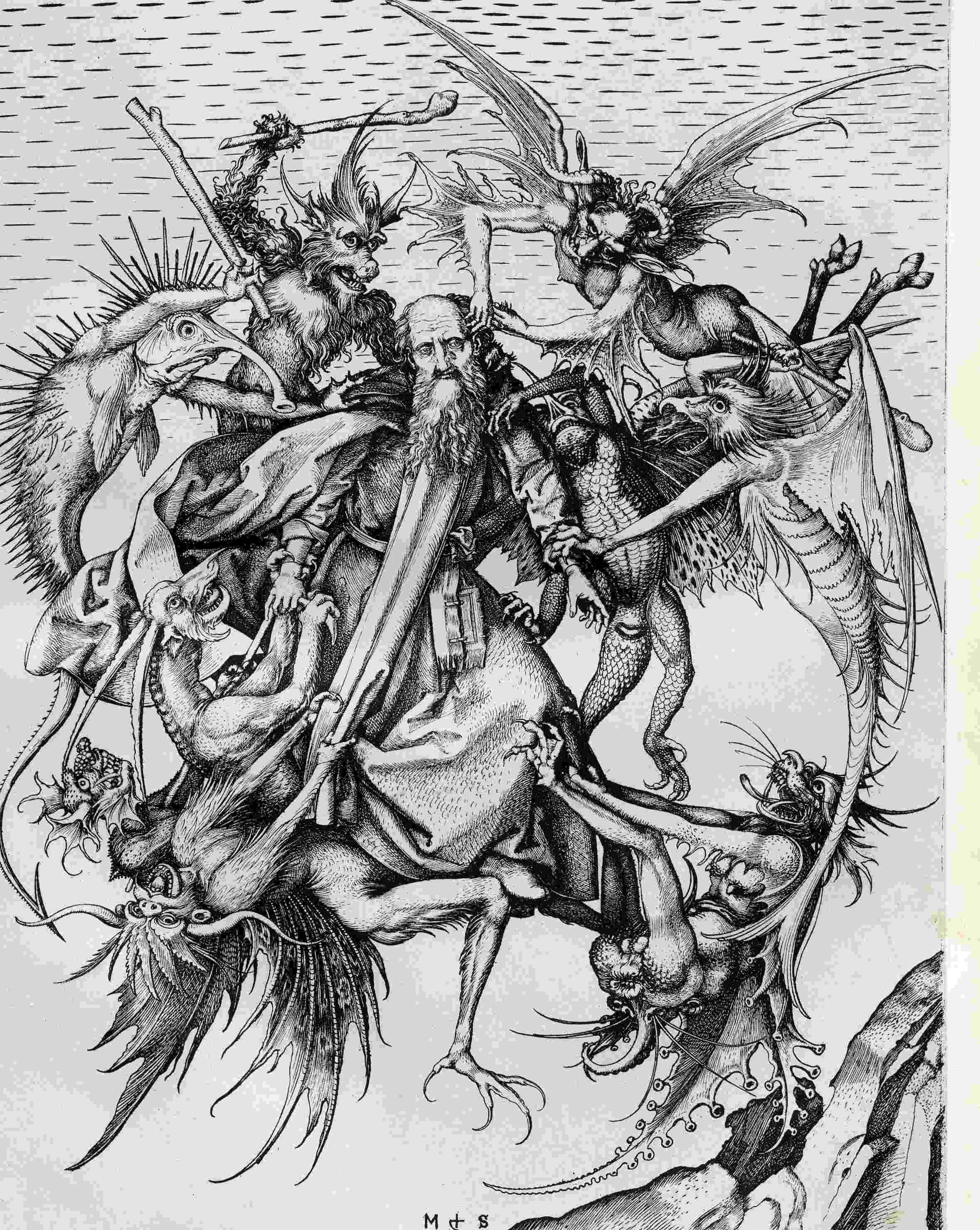 Temptation of st anthony clipart png transparent Art I Like : Martin Schongauer | Illustration & Design ... png transparent
