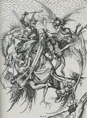Temptation of st anthony clipart clip download martin schongauer, \
