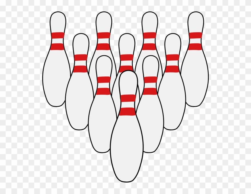 Ten bowling pins clipart vector transparent download Download Ten Pins Clipart Bowling Pin Ten-pin Bowling - 10 ... vector transparent download