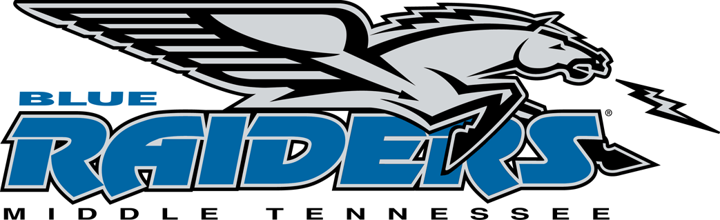 Tennessee state university logo clipart picture black and white stock MascotDB.com - Middle Tennessee State University Blue Raiders picture black and white stock