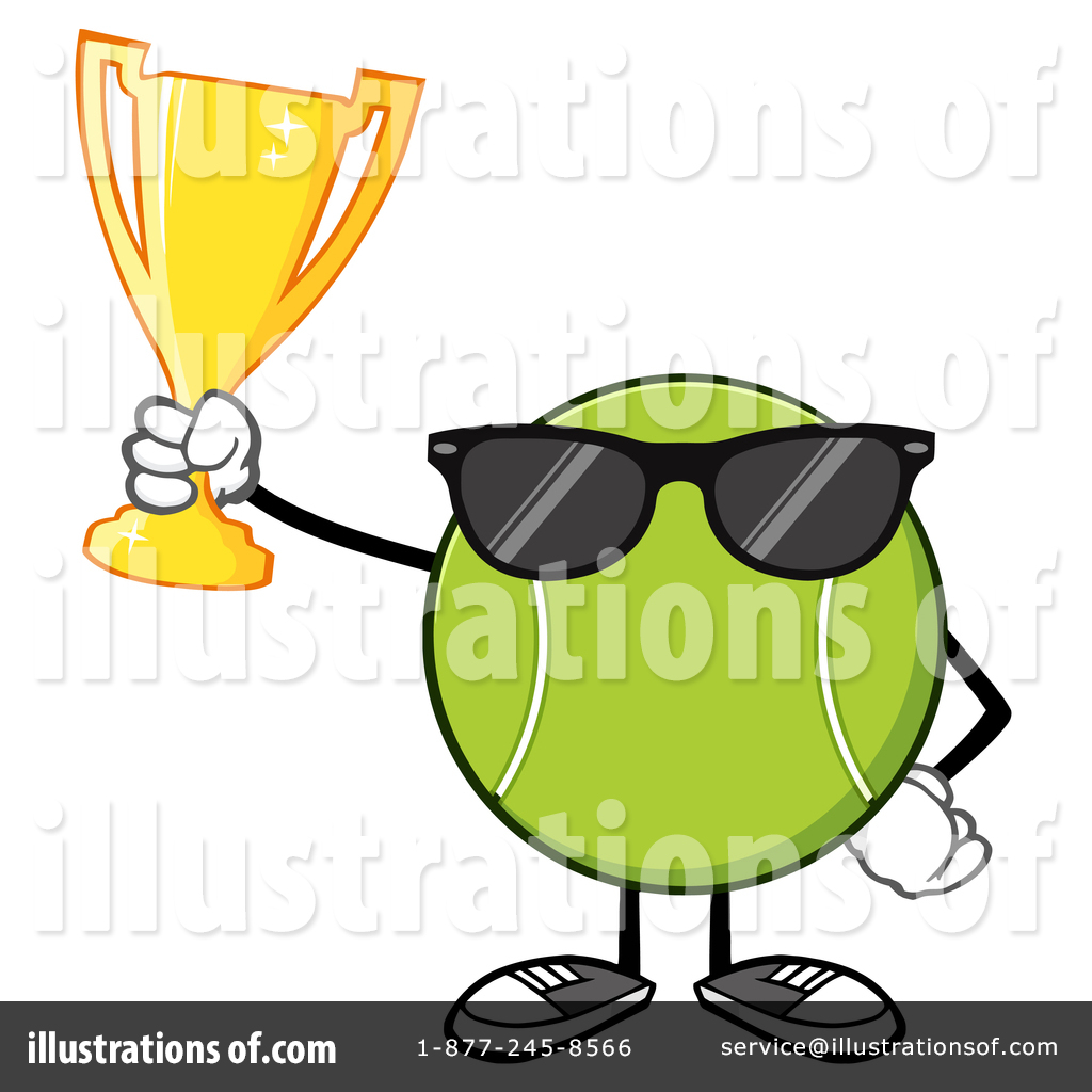 Tennis ball character cartoon clipart free stock Tennis Ball Character Clipart #1409578 - Illustration by Hit ... free stock