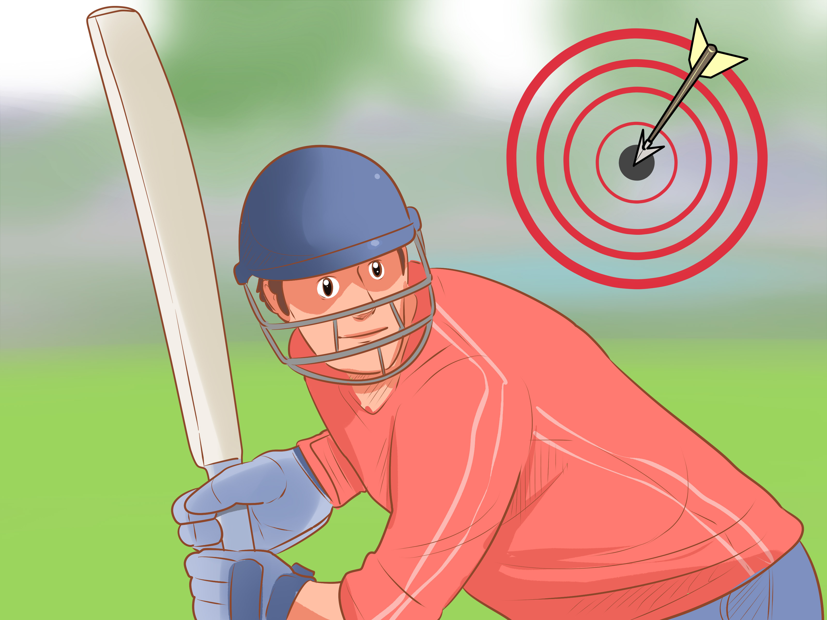 Tennis ball with legs and arms agressive cartoon clipart image free 2 Easy Ways to Improve Your Batting in Cricket - wikiHow image free