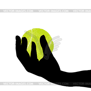 Tennis ball with legs and arms agressive cartoon clipart png free Hand silhouette holding tennis ball - vector clip art png free