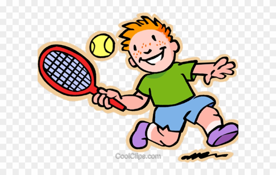 Tennis cartoon clipart banner free library Tennis Clipart Child - Png Download (#3074800) - PinClipart banner free library