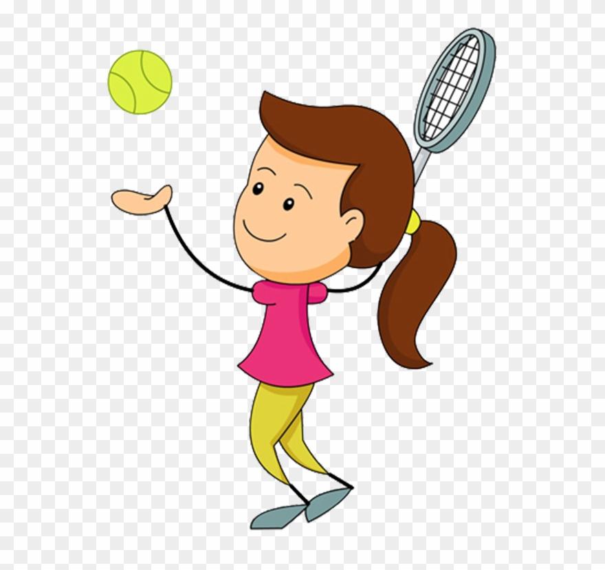 Tennis cartoon clipart image free Soccer Player Silhouette Free - Clip Art Playing Tennis ... image free