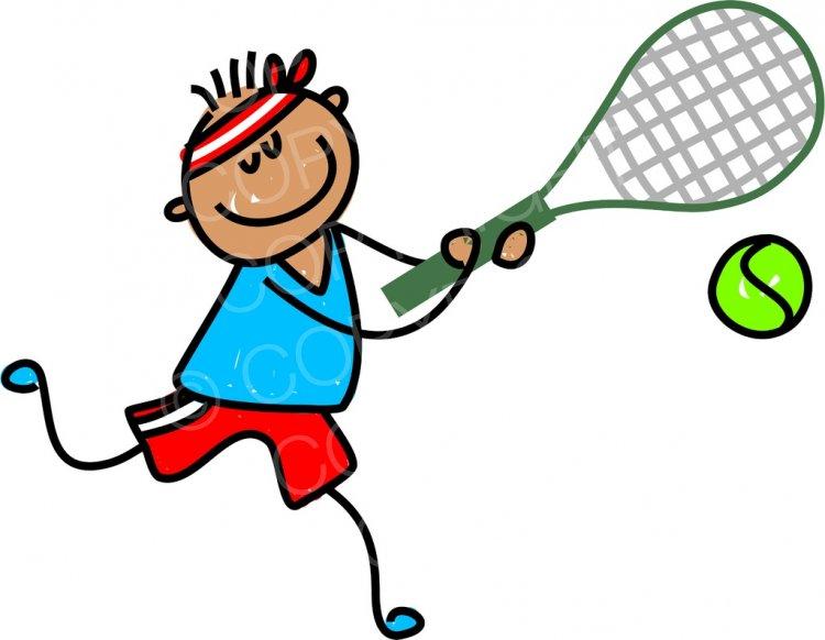 Tennis cartoon clipart svg stock Happy Cartoon Tennis Boy Toddler Art Prawny Clip Art ... svg stock