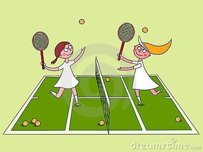 Tennis match clipart svg black and white stock Girls Tennis Clipart - Clipart Kid | bbq | Tennis, Clip art ... svg black and white stock