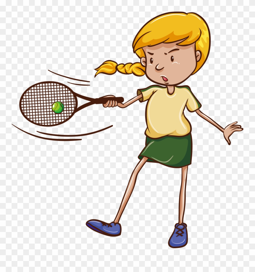 Tennis match clipart svg royalty free library Children Vector Tennis - Tennis March Clipart (#4114347 ... svg royalty free library