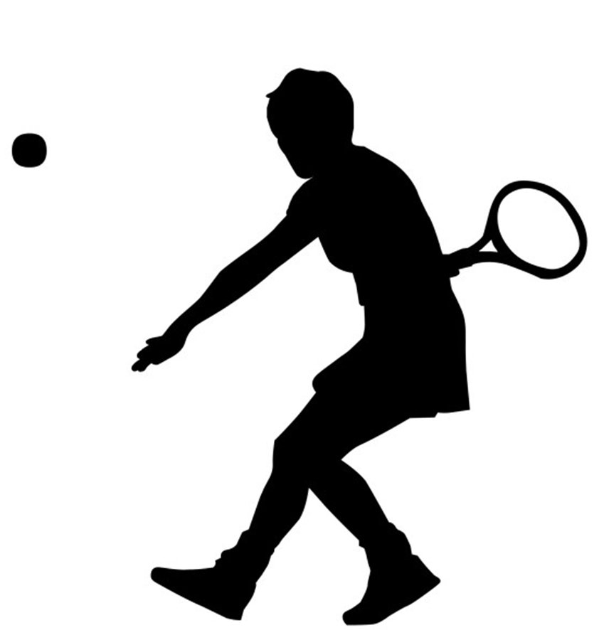 Tennis player clipart black and white clip library Free Black Tennis Cliparts, Download Free Clip Art, Free ... clip library