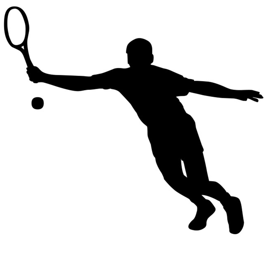 Tennis player clipart black and white clip download Tennis player clipart black and white - Clip Art Library clip download