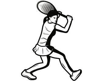Tennis player clipart black and white clip freeuse download Tennis Player Clipart | Free download best Tennis Player ... clip freeuse download