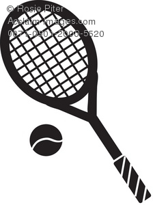 Tennis racket hitting ball clipart vector stock Tennis Racket Clipart | Clipart Panda - Free Clipart Images vector stock