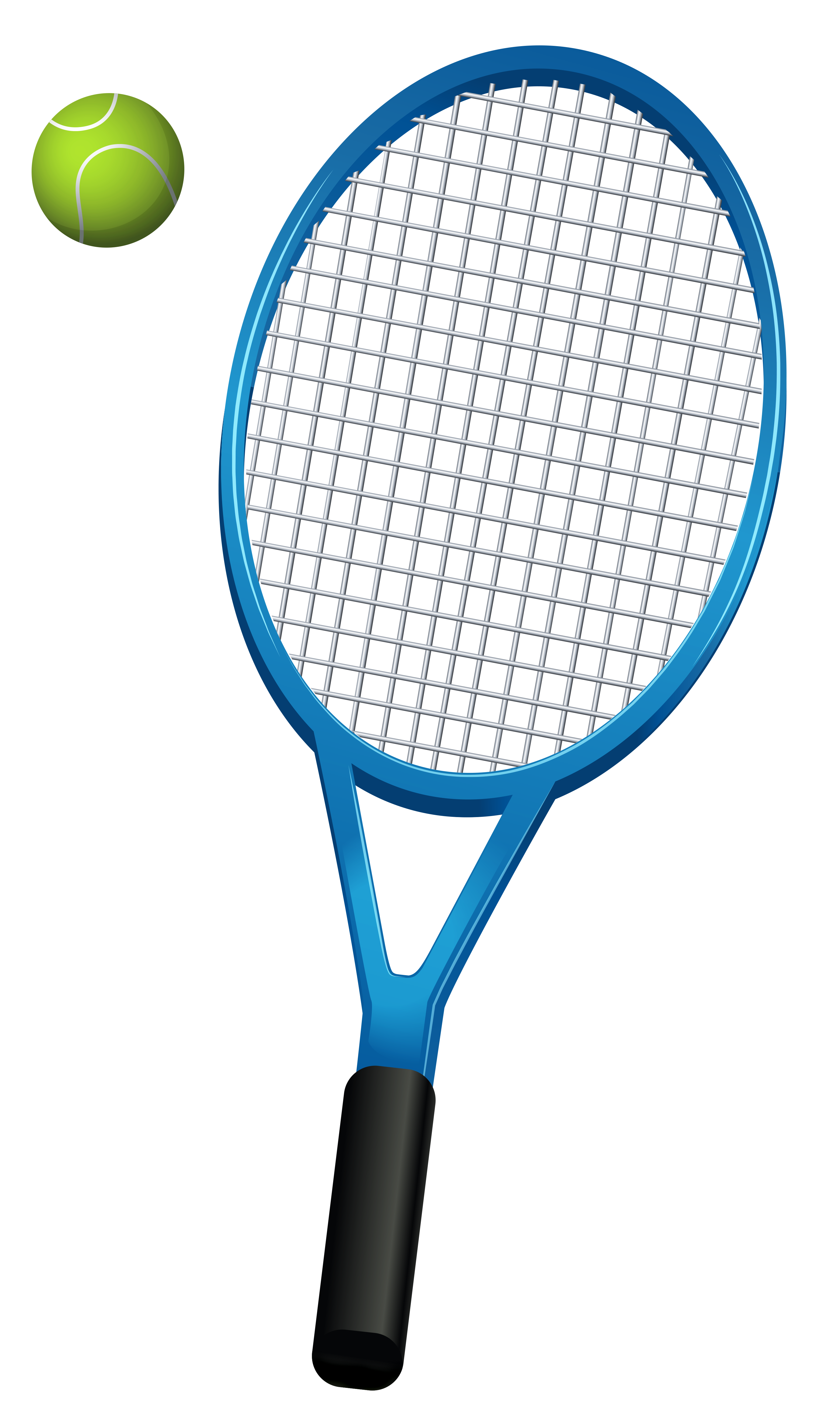 Tennis racket hitting ball clipart