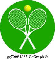 Tennis racquets clipart jpg library stock Tennis Rackets And Ball Clip Art - Royalty Free - GoGraph jpg library stock