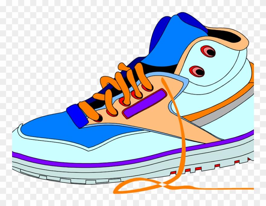 Tennis shoe border clipart vector freeuse library Shoe Clip Art - Transparent Shoes Cartoon Png (#36655 ... vector freeuse library