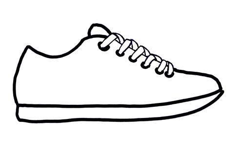 Tennisshoe clipart image library Nike Shoes Clipart   Free download best Nike Shoes Clipart ... image library