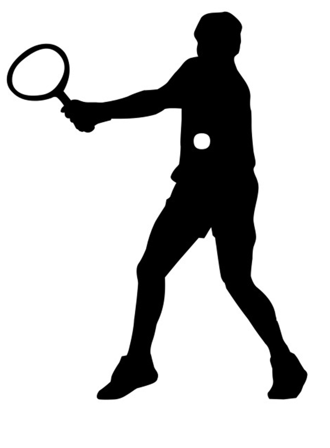 Tennis swing clipart graphic free stock Tennis racket,Standing,Silhouette,Throwing a ball,Playing ... graphic free stock