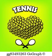Tennis valentines clipart vector black and white stock Tennis Valentine Clip Art - Royalty Free - GoGraph vector black and white stock